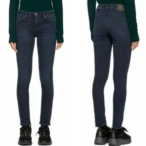 Acne Studios Peg Blue Black Skinny Ankle Jeans